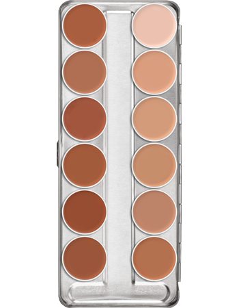 Supracolor Palette 12 Colors Kryolan Professional Make Up
