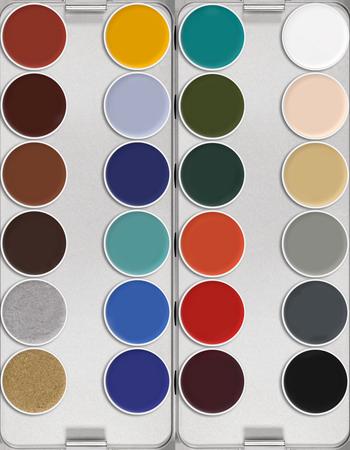 Supracolor Palette 24 Colors Kryolan Professional Make Up