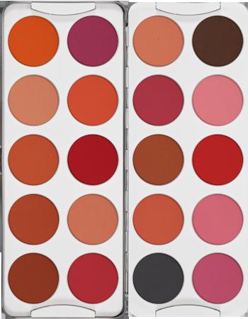 Blusher Palette 20 Colors Kryolan Professional Make Up